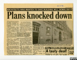 'Plans knocked down' March 1993