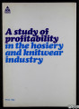 A study of profitability in the hosiery and knitwear industry
