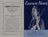 Encore News, Summer 1954