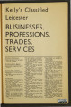 Kelly's Classified Leicester, 1971: Businesses, Professions, Trades, Services subsection