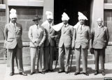 Photograph of Indian visitors to Corah factory, 1939
