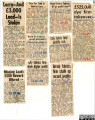 A collection of newspaper cuttings  from the Leicester Mercury regarding Bond Street Fabrics.