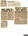 A collection of newspaper cuttings from the Leicester Mercury regarding Milletts Stores (1928) Ltd.
