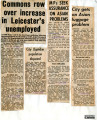 A collection of newspaper cuttings from the Leicester Mercury regarding Immigration to Leicester...