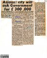 A collection of newspaper cuttings from the Leicester Mercury regarding immigration to...